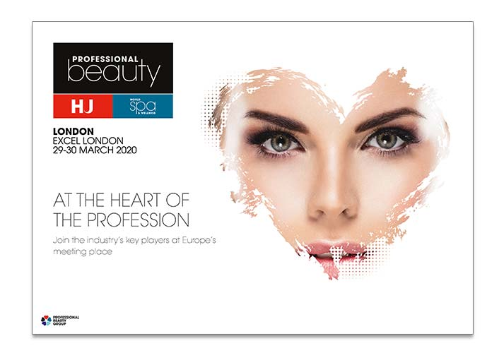 Professional Beauty Branding lady looking through heart