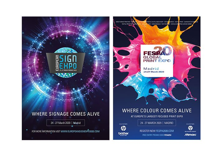 FESPA Advertising with explosion graphics